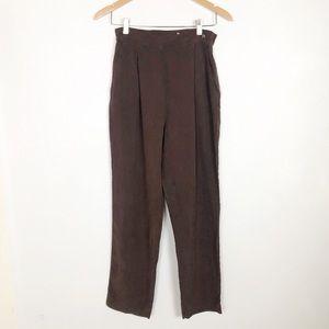 Jacqueline Ferrar brown high waisted silk pants